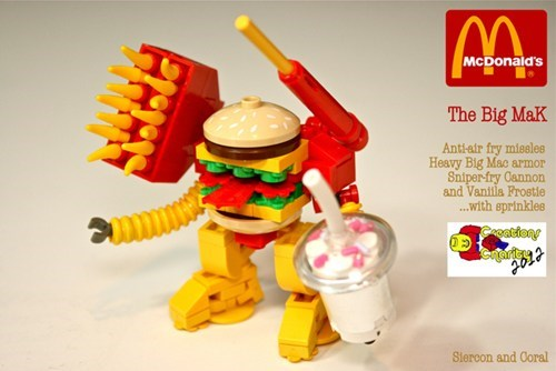 lego,mecha,design,McDonald's,robot,nerdgasm,fast food