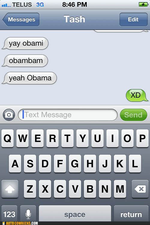 autocorrected iPhones barack obama obami - 6749541376