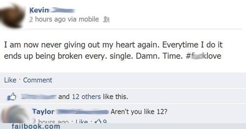 12 years old heartbroken breakups