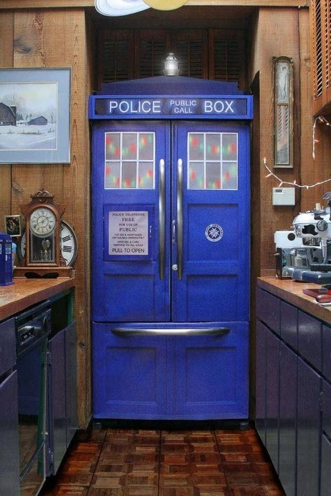 design tardis nerdgasm police box kitchen Hall of Fame best of week