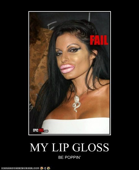 MY LIP GLOSS BE POPPIN'