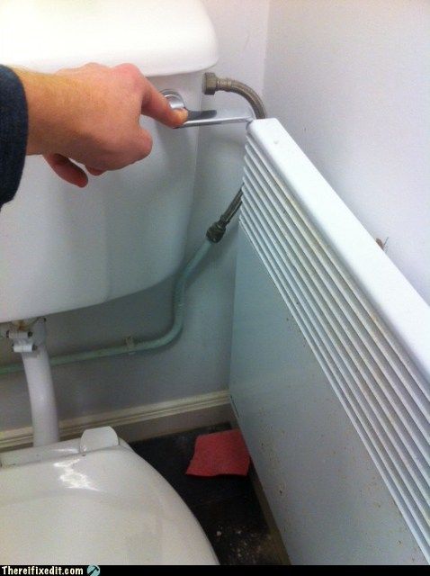 flusher radiator heater toilet flushing