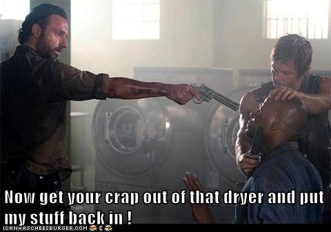 laundry Rick Grimes Andrew Lincoln daryl dixon norman reedus threat The Walking Dead - 6751033600