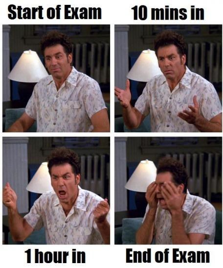 start of exam,kramer,seinfeld,test humor