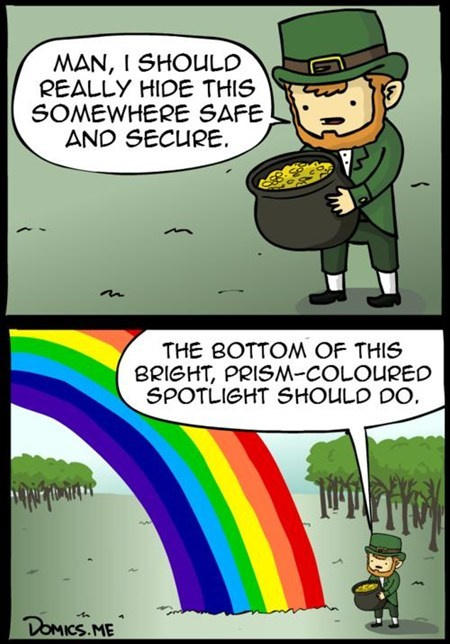 gold leprechaun logic rainbow