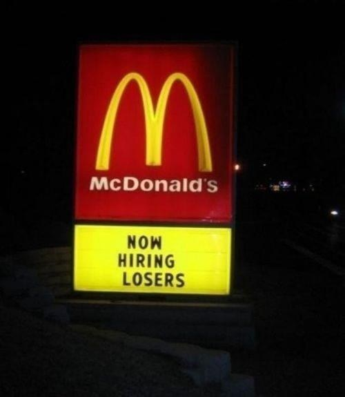 McDonald's losers fast food - 6751339008