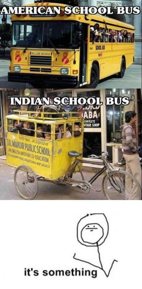 indian,school bus,america,countries,it's something