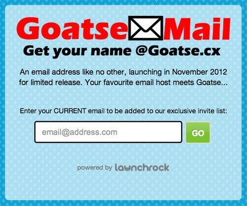 After Years of Built Up Anticipation, Goatse E-mail Service is Finally About to Launch