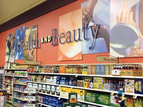 alcohol,health and beauty,grocery store