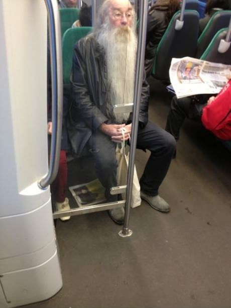 Harry Potter Movie dumbledore public transportation bus