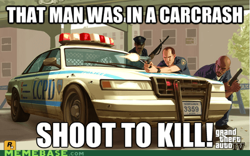 Grand Theft Auto crash video game logic - 6751630592