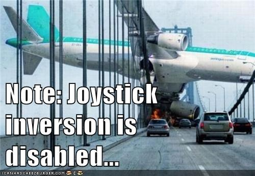 Note: Joystick inversion is disabled...