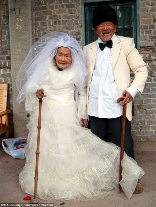 old China portrait couple