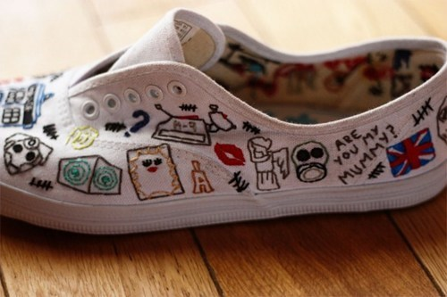 shoes,keds,doctor who,embroidered