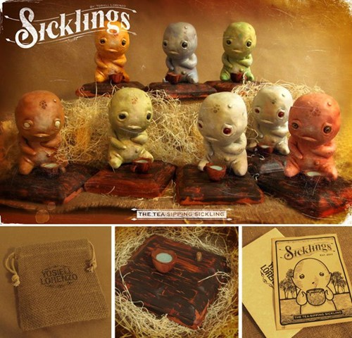 sicklings statues monster tea figurines - 6751878656