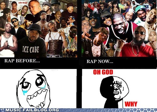then vs now,rap
