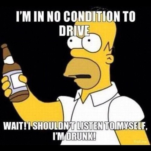 homer simpson drinking and driving the simpsons - 6751897344