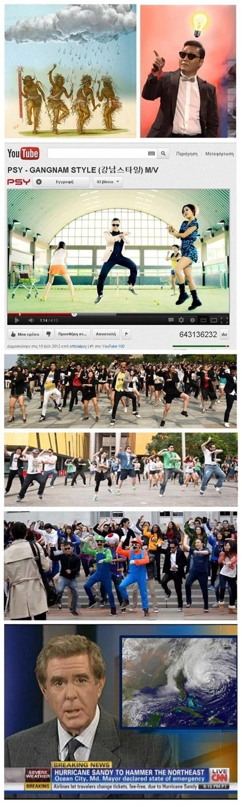 Rain Dance gangnam style psy hurricane sandy - 6752054016
