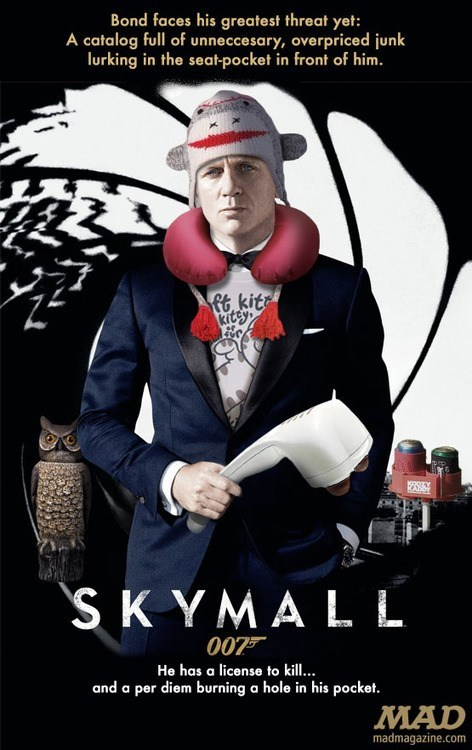 skymall,Daniel Craig,actors,movies,james bond,skyfall,puns,junk