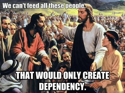 jesus Republicans poor dependency feeding socialism