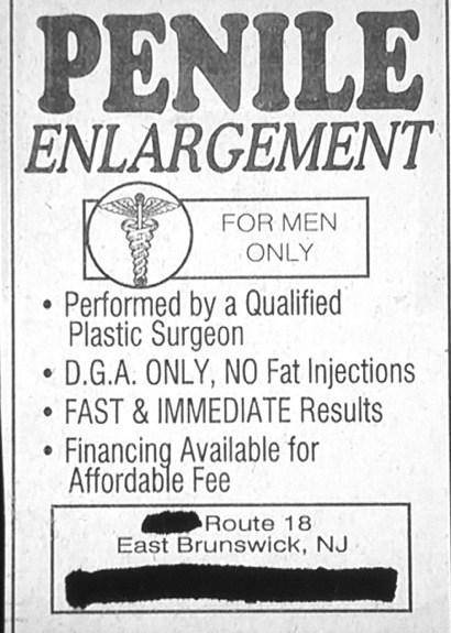 advertisement enlargement dude parts duh