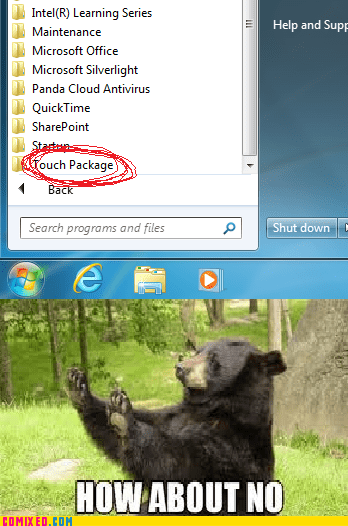 how about no,school,bear,package,laptop,folder