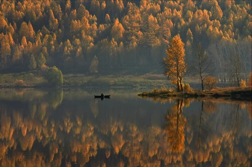 double,reflection,camping,pretty colors,lake,fall