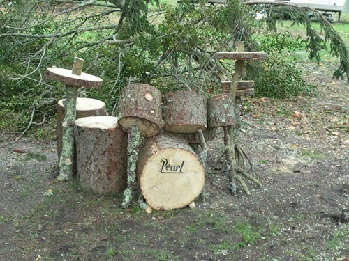 Music design cute wood drum set drums