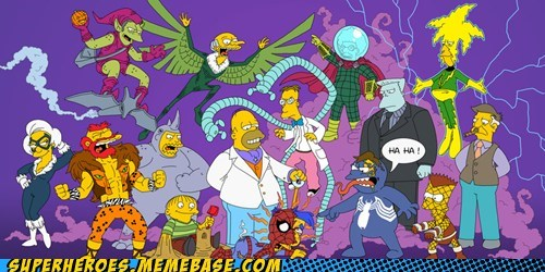 Spider-Man,art,Millhouse,simpsons