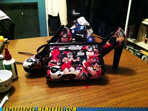shoes,purse,moods,Harley Quinn