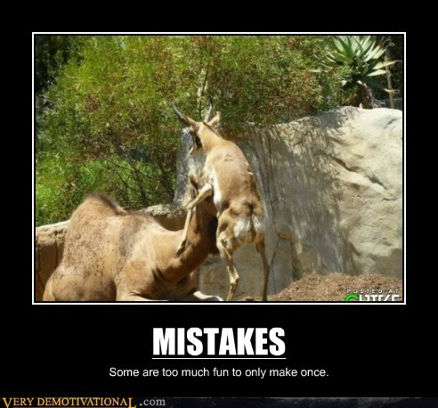 MISTAKES Some are too much fun to only make once.