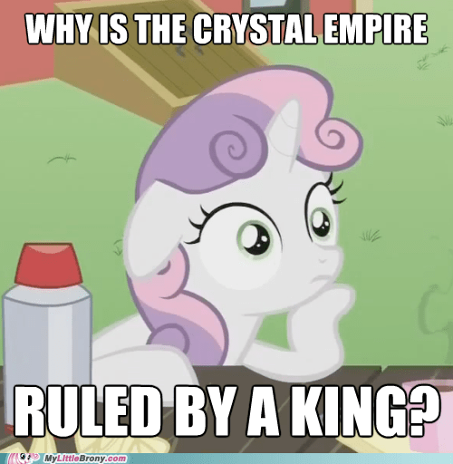 crystal empire,conspiracy sweetie belle,king