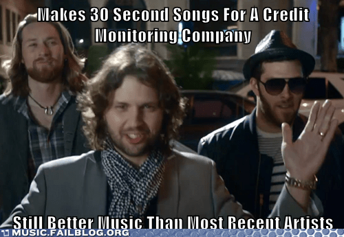 fictional bands,credit score band