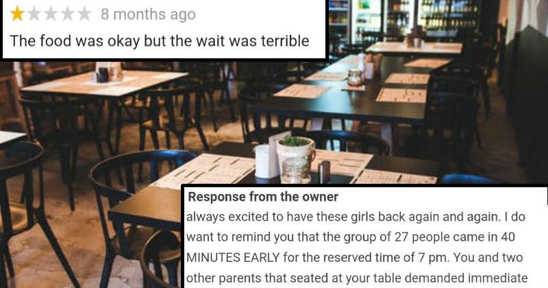 reviews customer service FAIL owner lies truth restaurant customer mom stupid - 6754309