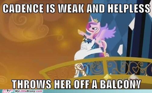 scumbag,shining armor,cadence,balcony