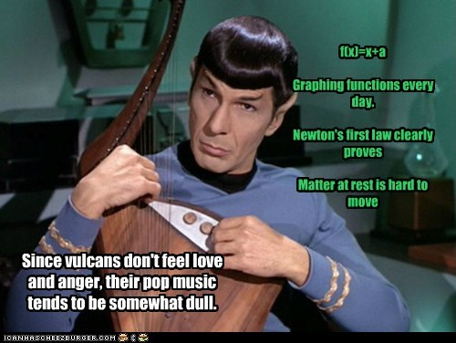 Vulcans,Spock,pop music,instrument,Leonard Nimoy,math