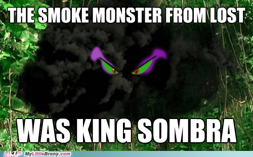king sombra,smoke monster,lost