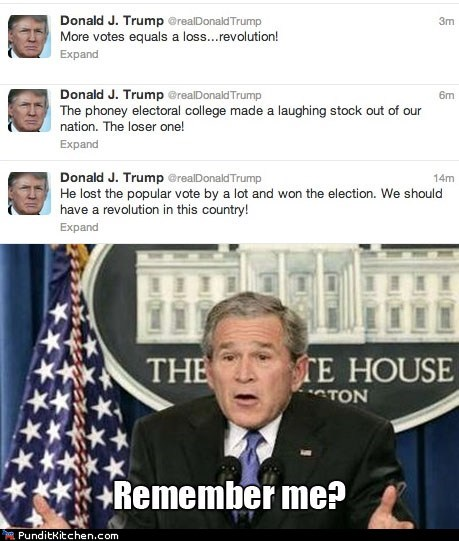 electoral college,vote,donald trump,memories,george w bush,remember me