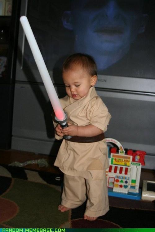 Babies cosplay star wars kids lightsabers cute Jedi - 6754477056