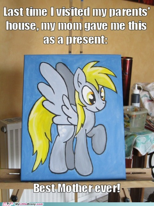 derpy hooves,cute,painting,mom