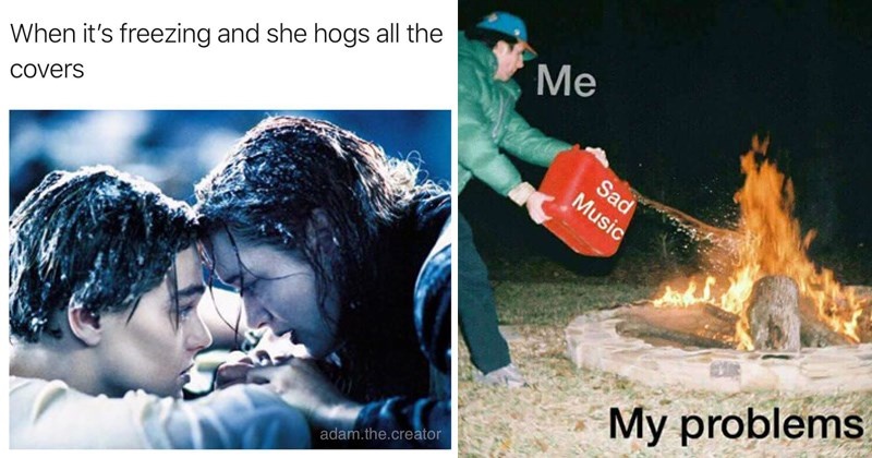 memes, titanic, fueling my sadness with sad music