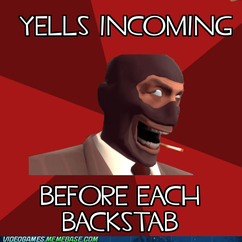 Team Fortress 2 backstab meme spies