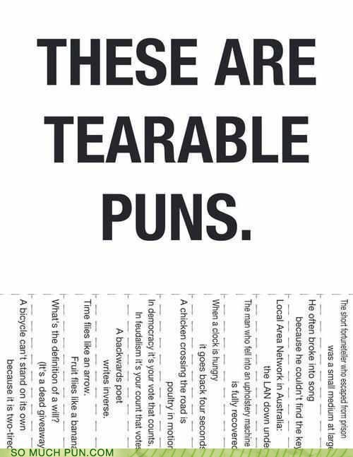 tearable,terrible,literalism,homophone,double meaning