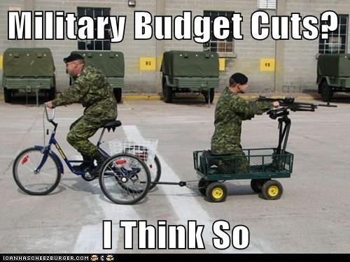 Military Budget Cuts?  I Think So