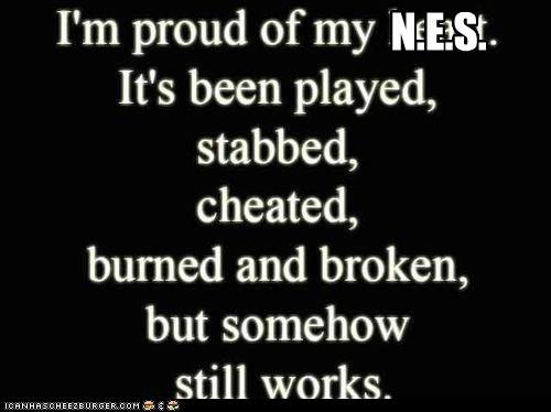 NES broken heart hipster edit