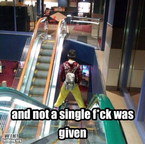 not a single damn escalator temporarily stairs BAMF - 6756588288