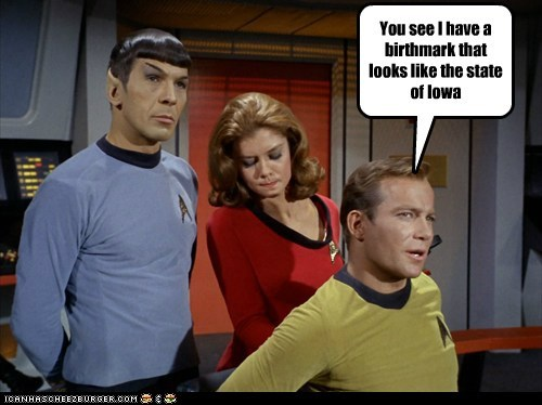 Captain Kirk butt Spock looking Leonard Nimoy Star Trek William Shatner Shatnerday - 6756895488