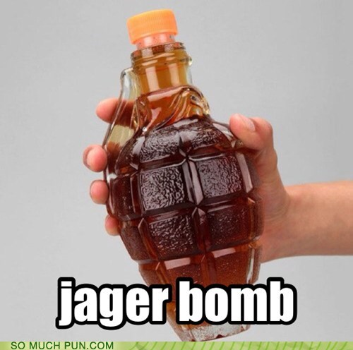 jager bomb,bomb,literalism,jagermeister,double meaning