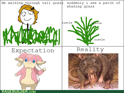 Pokémon,expectations vs reality,tall grass