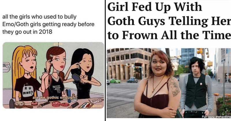 Funny goth memes just in time for Halloween